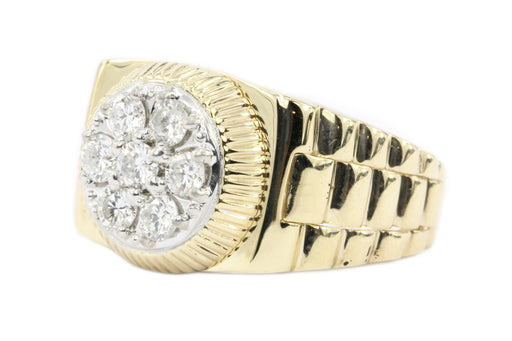 14K Yellow Gold 1 CTW Men's Ring - Queen May