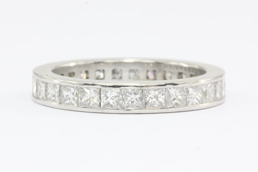 18K White Gold Diamond Eternity Band 3 CTW Size 7