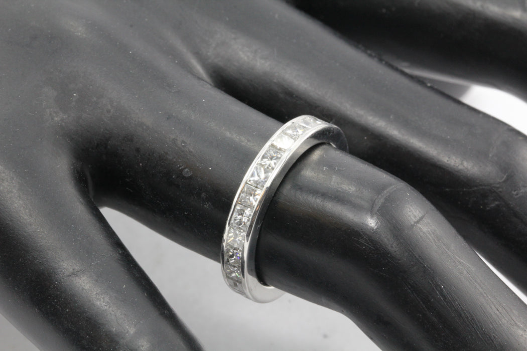 18K White Gold Diamond Eternity Band 3 CTW Size 7 - Queen May