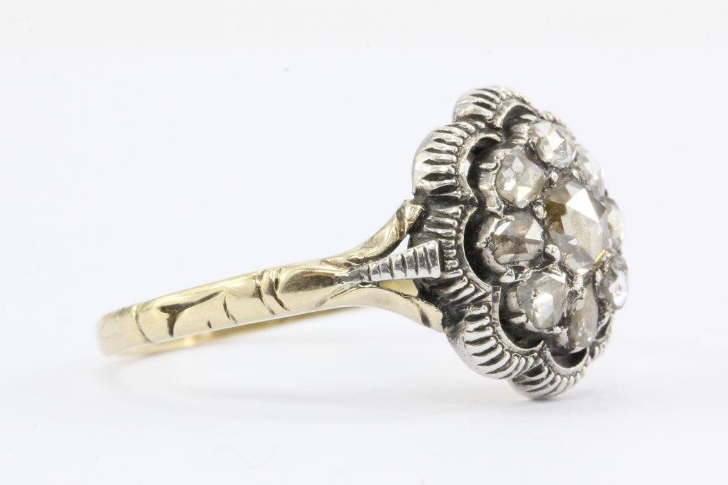 old ca own european your design ring rings hart georgian engagement cluster cut taylor vintage diamond