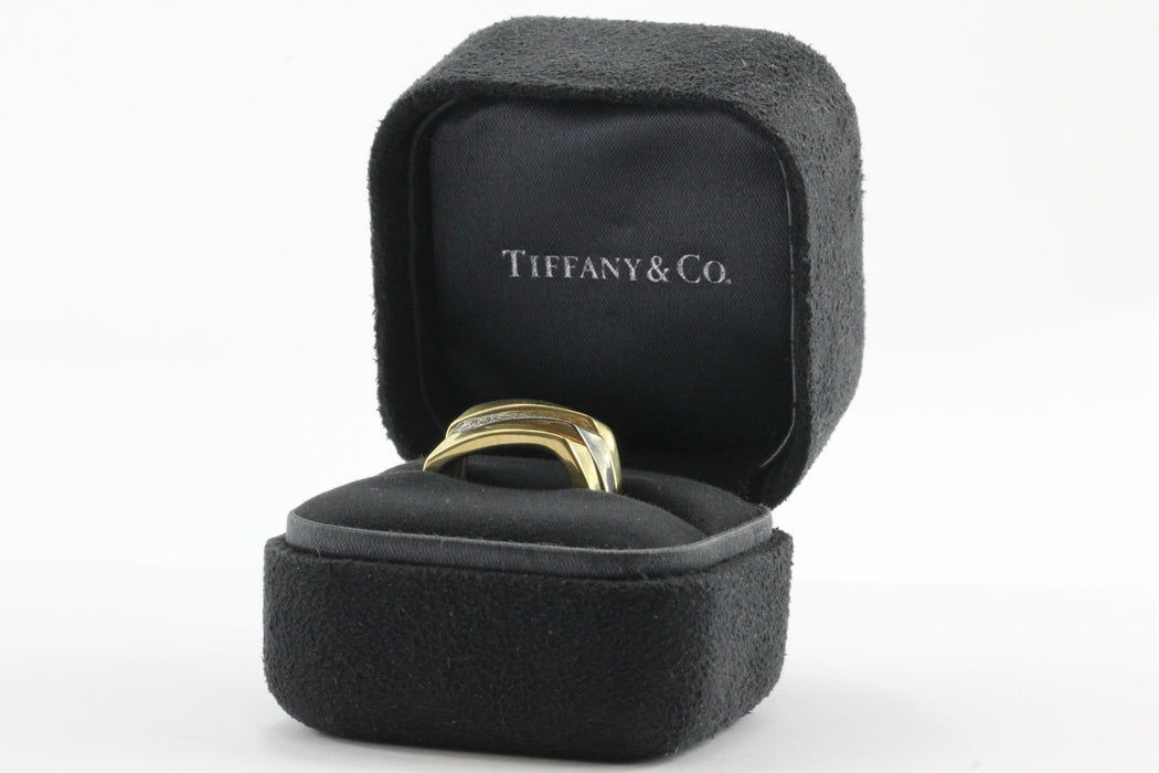 Set of 3 Tiffany & Co 750 18K White & Yellow Gold Frank Gehry Torque Ring Bands - Queen May
