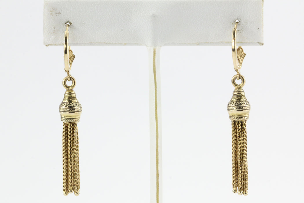 Victorian 10K Gold Tassel Earrings c.1890 - Queen May
