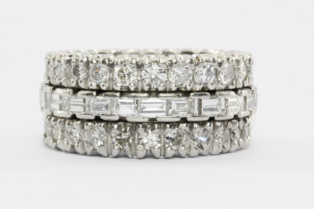 Platinum 4 CTW Diamond Eternity Band Ring Size 6 - Queen May
