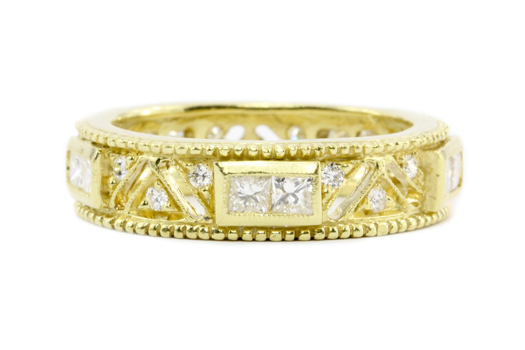 18K Yellow Gold Modern Eternity Band 1.7 CTW