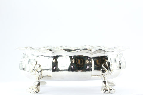 Buccellati Sterling Silver Hand Crafted Italian Fluted Bowl