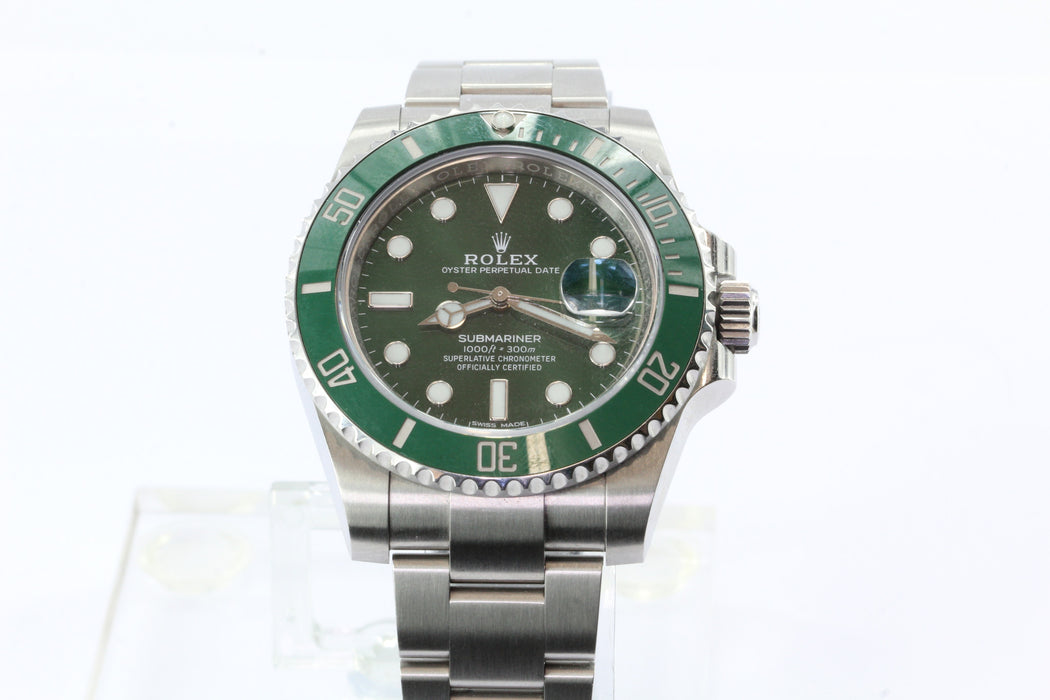 Rolex Submariner Green Dial Steel Oyster Perpetual Date Automatic Mens Watch - Queen May