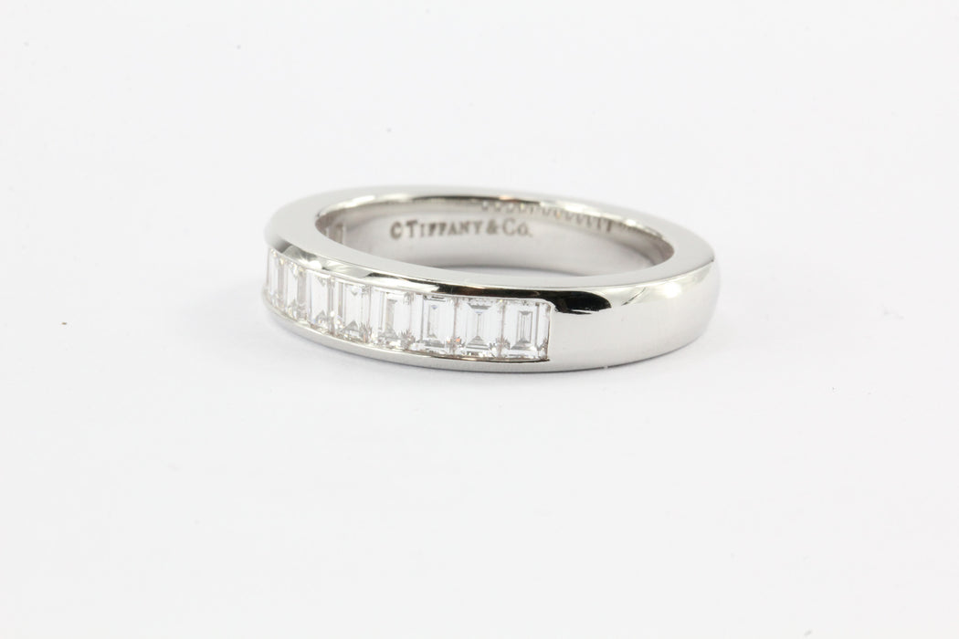 Tiffany & Co band ring in platinum, 3mm wide - Size 6 Tiffany & Co.