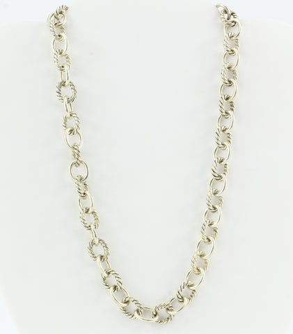 David Yurman Oval Link Sterling Silver Necklace 17""