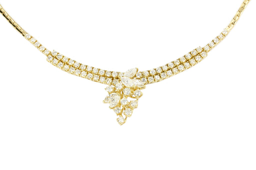 18K Yellow Gold 3 CTW Diamond Necklace - Queen May