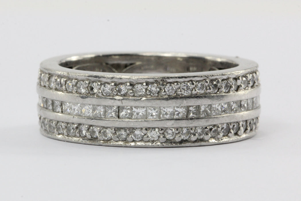 Diamond Platinum 2.34 CTW Eternity Band Size 8.75 - Queen May