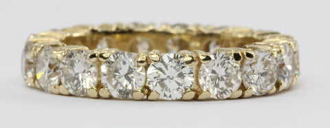 14K Gold 2.5 CTW Diamond Eternity Band Ring Size 3.5