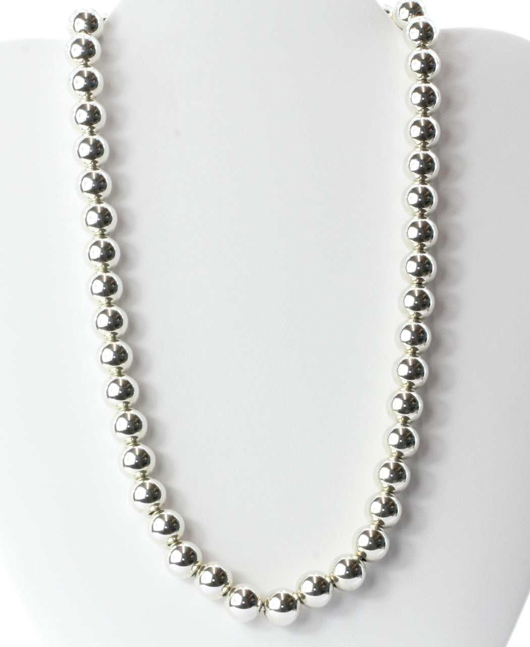 70d7d06e9 Tiffany & Co Sterling Silver Ball Beaded Necklace 18