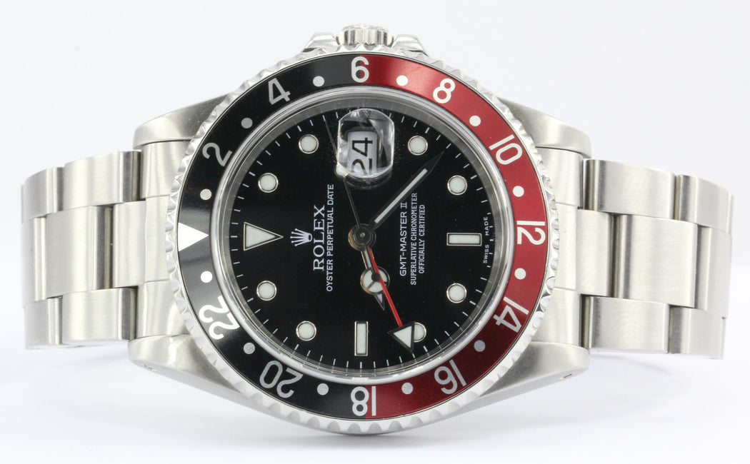 Rolex GMT Master II 16710 1996 Oyster Perpetual Red & Black Coca Cola Watch - Queen May