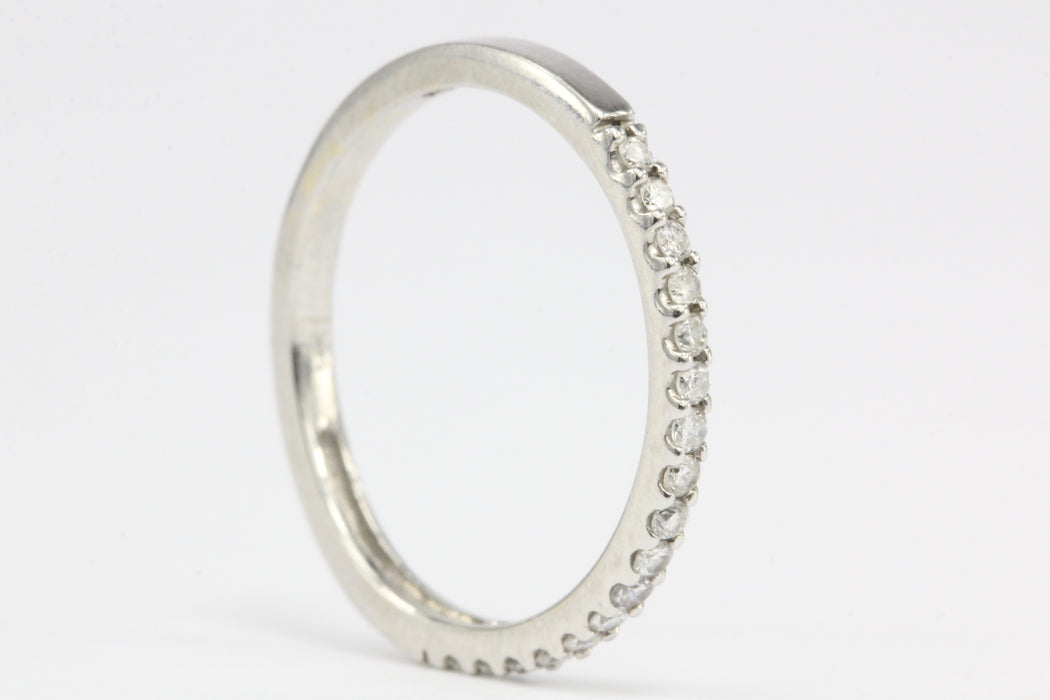 14K White Gold .15 CTW Diamond Half Eternity Band Size 4.5 - Queen May