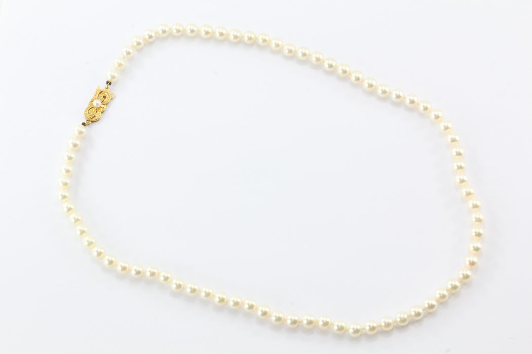 Mikimoto 18K Gold 6.3mm Princess Length Pearl Strand Necklace - Queen May