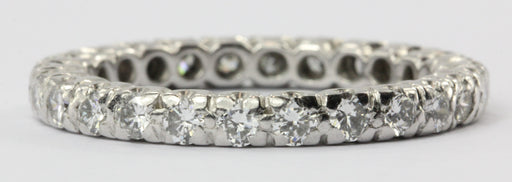 Vintage Platinum 1.3 CTW Diamond Eternity Band Ring Size 7.25
