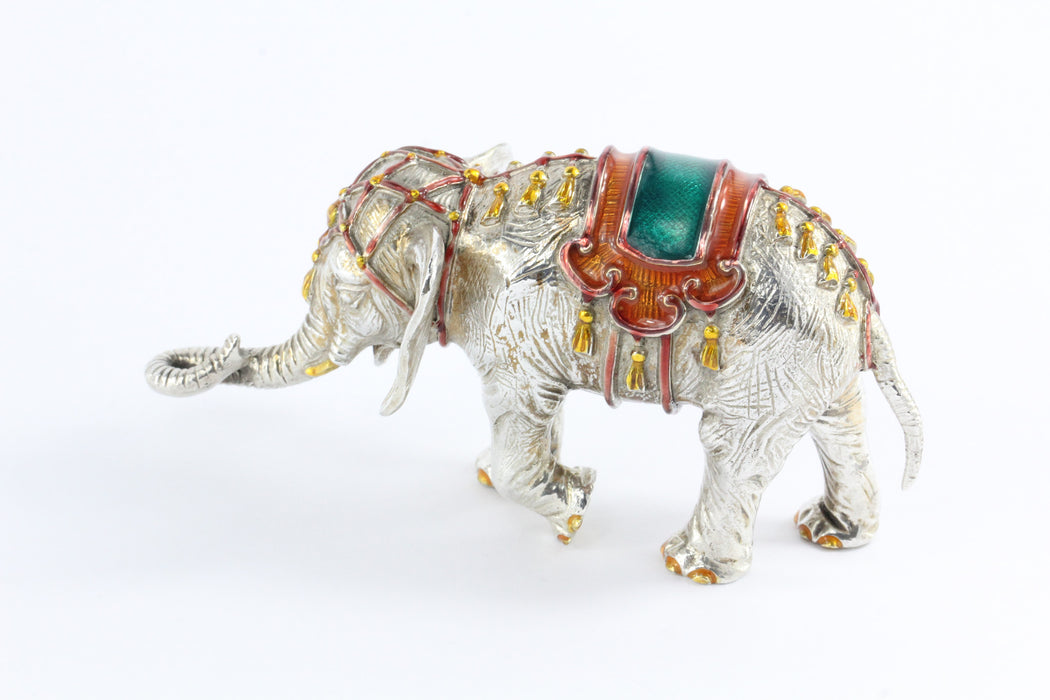 Tiffany & Co. Gene Moore Sterling Silver Enamel Circus Elephant, circa 1990 - Queen May