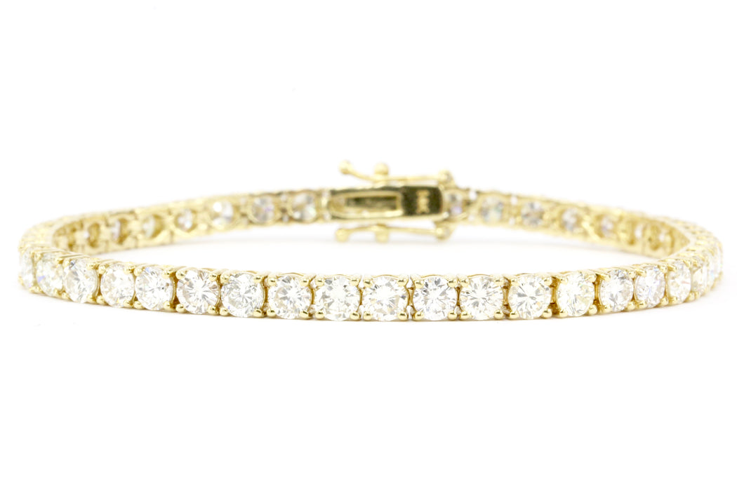 9 CTW 45 Diamond 14K Gold Tennis Bracelet - Queen May