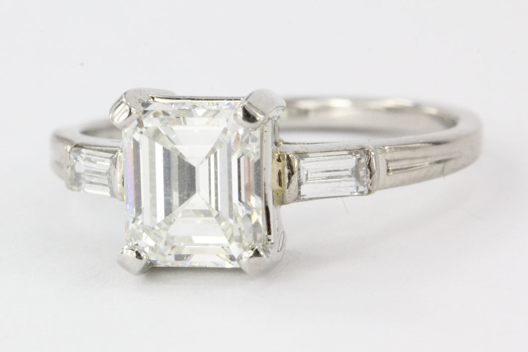 Tiffany & Co. Emerald Cut Diamond Palladium Engagement Ring - Queen May
