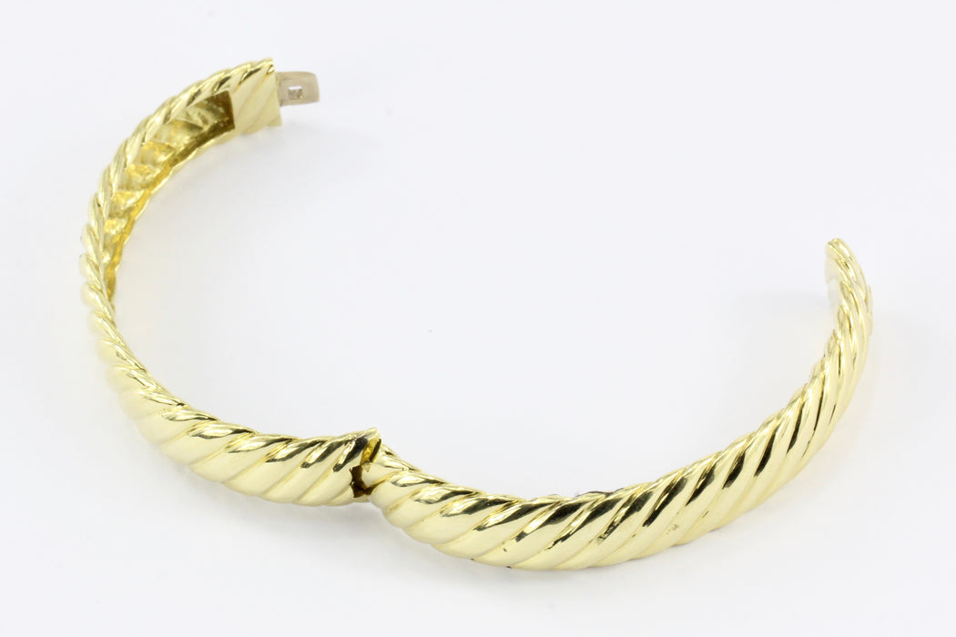 David Yurman 18K Yellow Gold Cable Classic Bangle Bracelet - Queen May