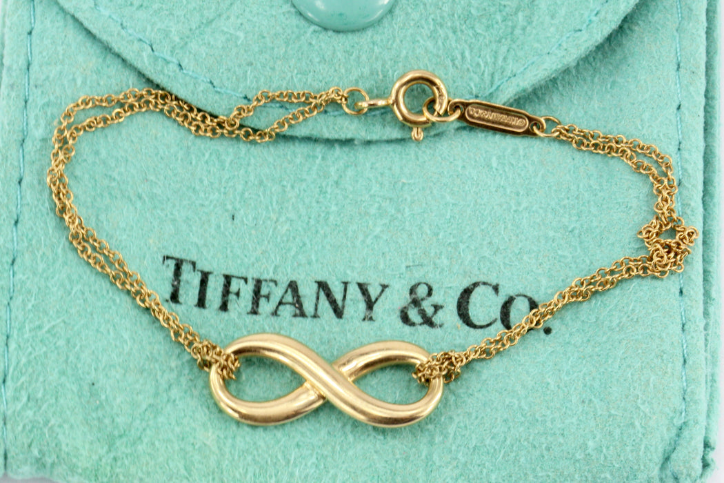 "Tiffany & Co 18K Rose Gold Infinity Bracelet 6"" - Queen May"