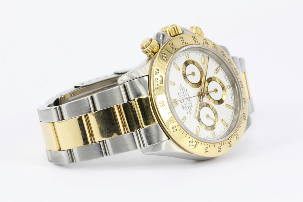 Rolex Daytona Model 16523 18k Yellow Gold & Steel Circa 1995 - Queen May