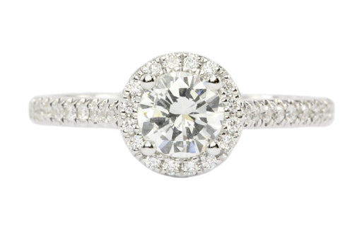 14K White Gold .50 Carat Diamond Engagement Ring - Queen May
