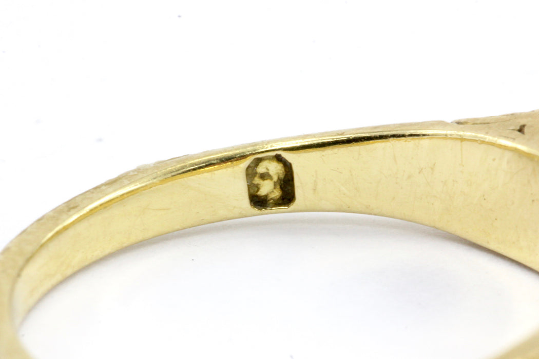 Victorian 18K Yellow Gold Rose Cut Diamond and Natural Pearl Band Ring Size 6.75 - Queen May