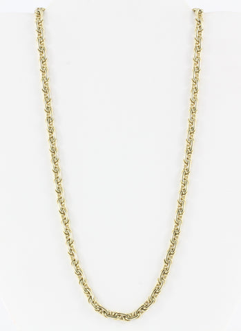 "Vintage Tiffany & Co 14K Yellow Gold Chain Necklace 18"" c. 1980's"