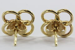 Tiffany & Co 18K Gold Elsa Peretti Quadrifoglio Four Leaf Clover Earrings