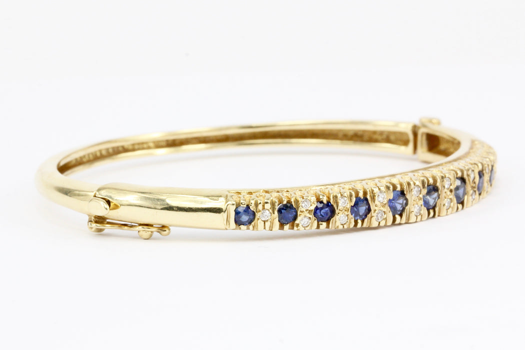 bangle uk sapphire gold white jewellers diamond and swag bracelet bangles