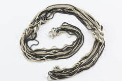 "David Yurman 42"" 8 Row Blackened Silver Curb Link Chain Necklace Sterling Silver"