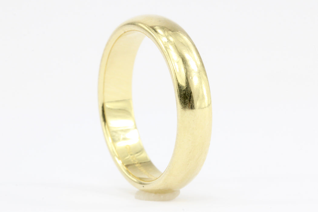 wedding gold ring ct band yellow bands diamond mm womens