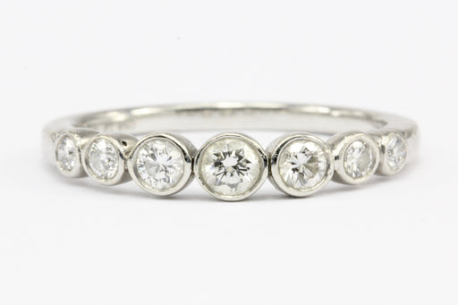 Tiffany & Co Jazz Platinum Diamond Graduated Band Ring Size 7.5
