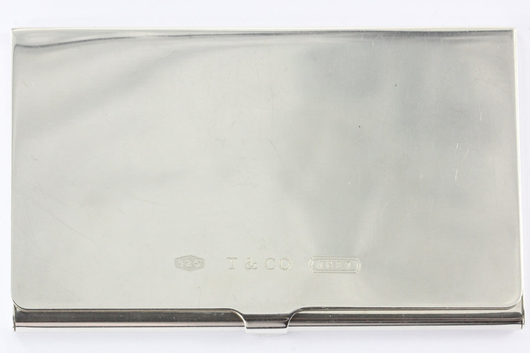 huge inventory f8313 bb76e Tiffany & Co Sterling Silver 1837 Business Card Holder Card Case NO MONOGRAM