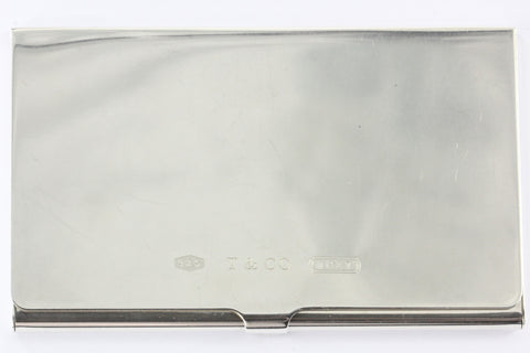 Tiffany & Co Sterling Silver 1837 Business Card Holder Card Case NO MONOGRAM