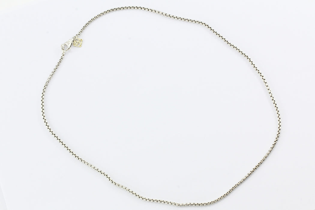 "David Yurman Sterling Silver 20.5"" 2.25mm Chain Necklace - Queen May"