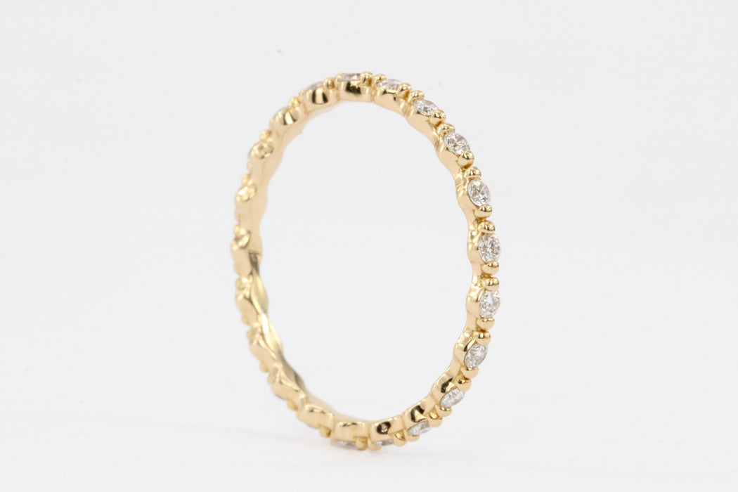 18K Rose Gold .35 CTW Eternity Band - Queen May