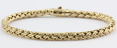 Vintage 14K Gold Tiffany & Co Woven Braided Bracelet