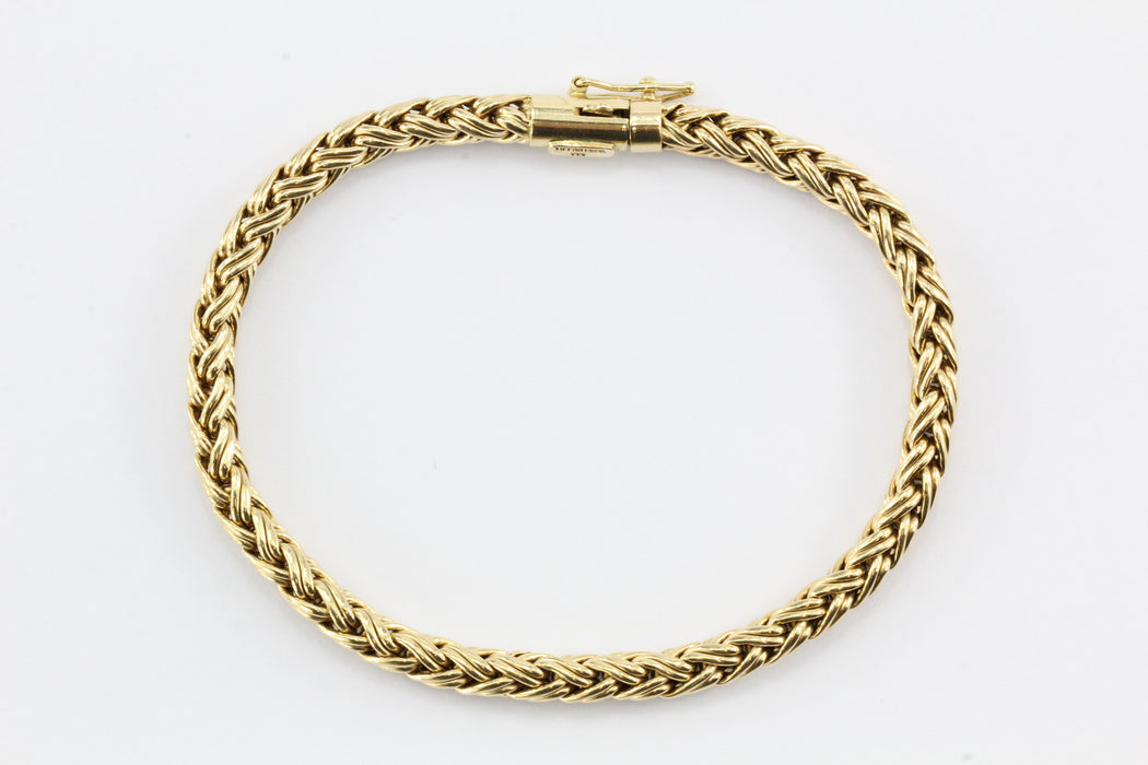 Vintage 14K Gold Tiffany & Co Woven Braided Bracelet - Queen May
