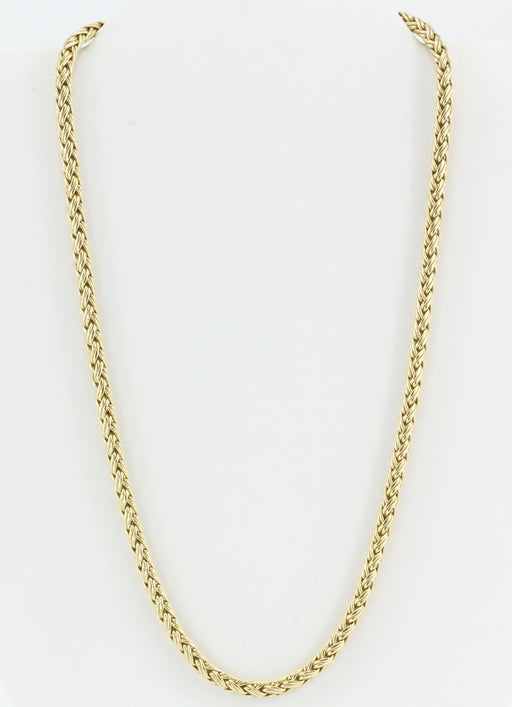 Tiffany & Co 14K Yellow Gold Woven Braided Necklace 18""