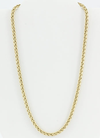 Vintage Tiffany & Co 14K Gold Woven Braided Necklace