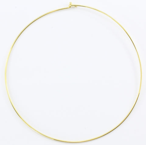Tiffany & Co 18K Gold Simple Hook Collar Necklace
