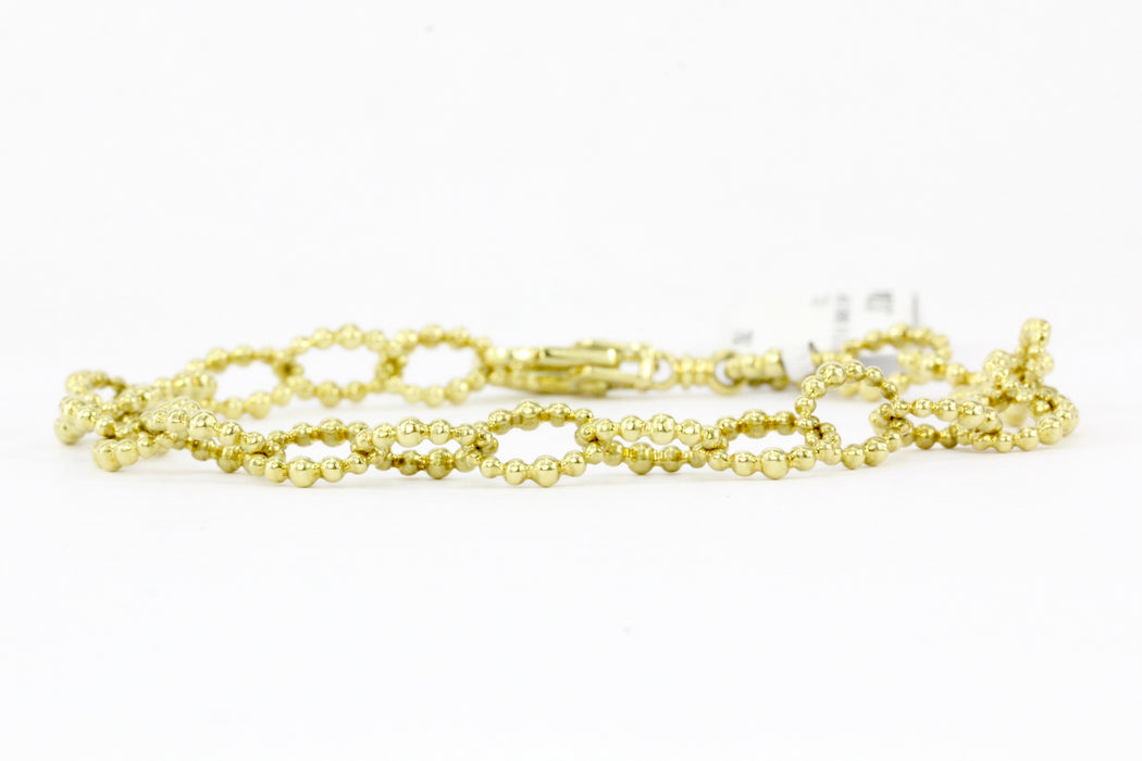Lagos Caviar Gold Collection 18K Gold Fluted Oval Link Bracelet - Queen May