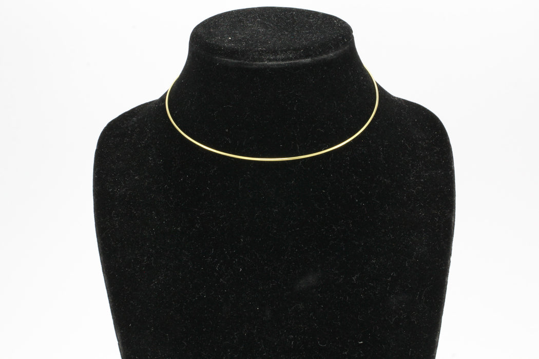 Tiffany & Co 18K Gold Simple Hook Collar Necklace - Queen May