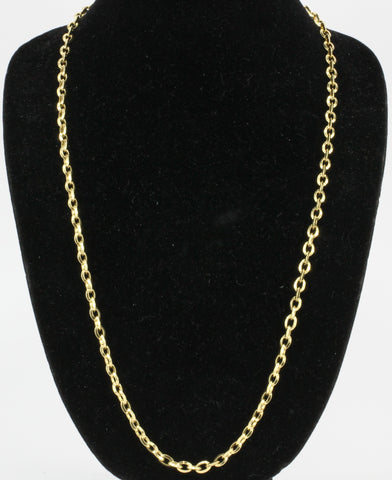 Vintage Cartier 18K Diamond Oval Link Chain Necklace 30.5""