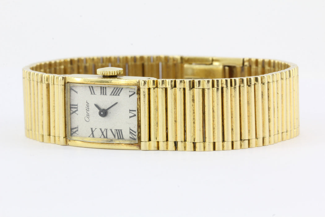 Vintage Cartier 18K Gold Girard Perregaux Tank Watch c.1950's - Queen May