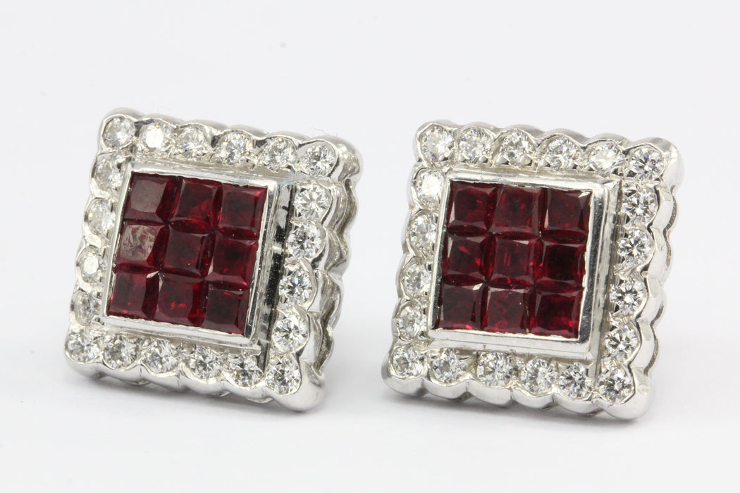 rectagular stone at online com full silver buy july earrings natural ruby