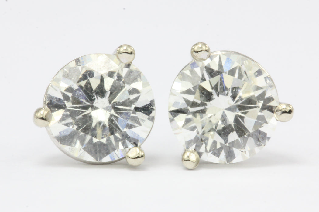 1 CTW Diamond 14K White Gold Earring Studs 1 - Queen May