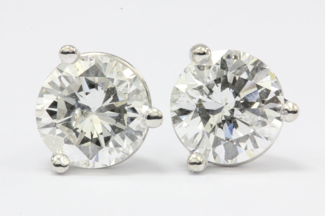 1.05 CTW Diamond 14K White Gold Earring Studs 2